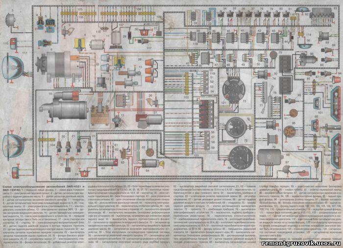Зил 45085 тормозная система схема