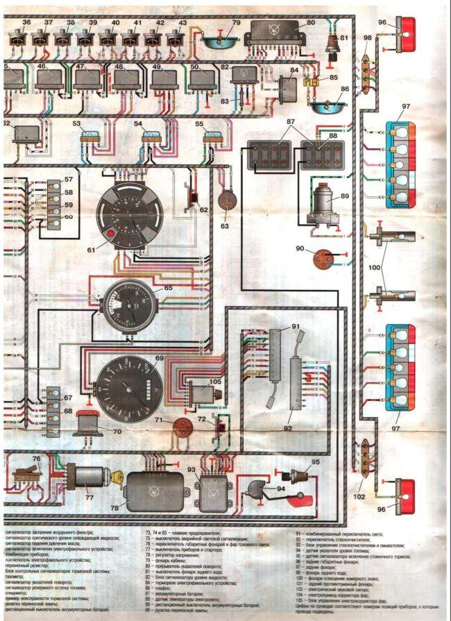 Схема электрооборудования ЗИЛ